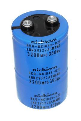 Nichicon CAP-350V-3200UF-101-65-28 front image