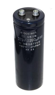 Matsushita CAP-375V-2200UF-144-52-22 front image