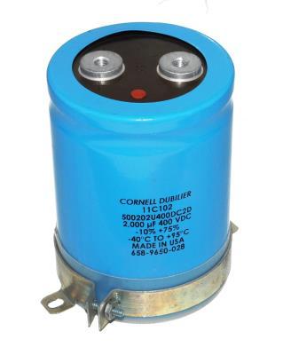 Cornell Dubilier CAP-400V-2000UF-106-77-32 front image