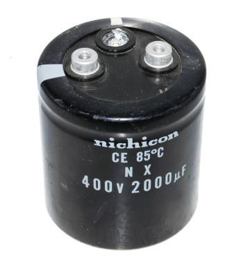 New Refurbished Exchange Repair  Nichicon Capacitors CAP-400V-2000UF-70-65-28 Precision Zone
