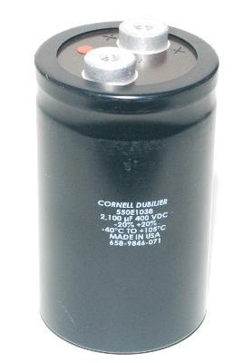 Cornell Dubilier CAP-400V-2100UF-105-64-28 front image