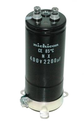 Nichicon CAP-400V-2200UF-133-51-22 front image