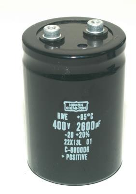 Nippon Co CAP-400V-2600UF-90-64-28 front image