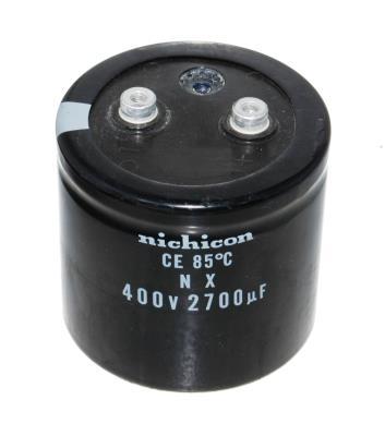 Nichicon CAP-400V-2700UF-72-78-32 front image