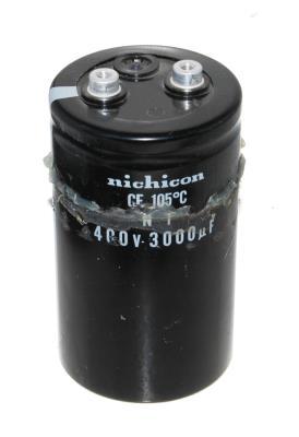 Nichicon CAP-400V-3000UF-111-65-28 front image