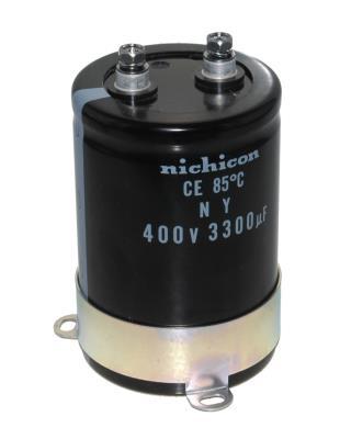 Nichicon CAP-400V-3300UF-95-63.5-28 front image