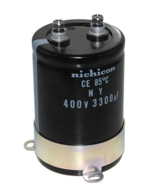 Nichicon CAP-400V-3300UF-98-65-28 front image