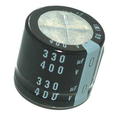 Nichicon CAP-400V-330UF-30-35-10 label image