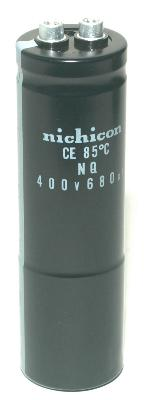 Nichicon CAP-400V-680UF-121-36-13 front image