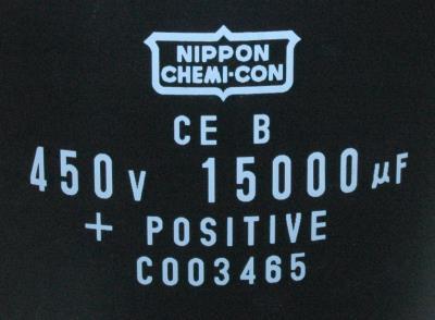 Nippon Co CAP-450V-15000UF-222-100-40 label image