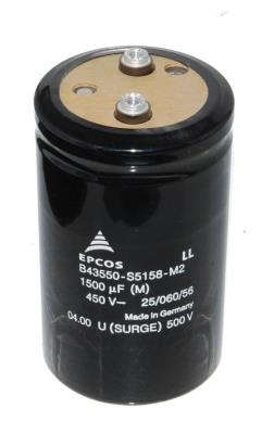 New Refurbished Exchange Repair  EPCOS Capacitors CAP-450V-1500UF-106-64-28 Precision Zone
