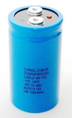 Cornell Dubilier CAP-450V-2000UF-120-63-28 front image