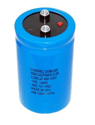 Cornell Dubilier CAP-450V-2200UF-105-63.5-28.6
