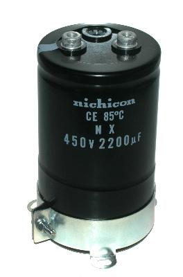 Nichicon CAP-450V-2200UF-110-64-29 front image