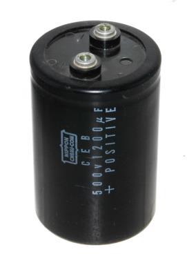 Nippon Co CAP-500V-1200UF-104-65-28 front image