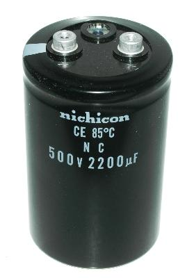 New Refurbished Exchange Repair  Nichicon Capacitors CAP-500V-2200UF-100-65-28 Precision Zone
