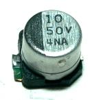 Panasonic CAP-50V-10UF-5.8-6.3-SMD front image
