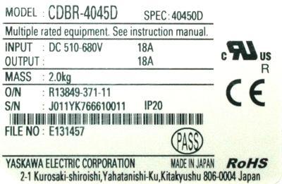 Yaskawa CDBR-4045D label image