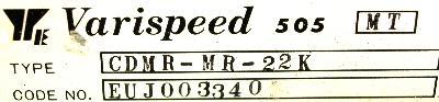 Yaskawa CDMR-MR-22K label image