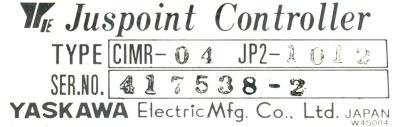 Yaskawa CIMR-04JP2-1012 label image