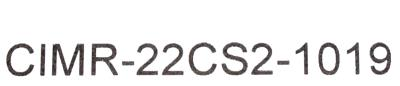 Yaskawa CIMR-22CS2-1019 label image