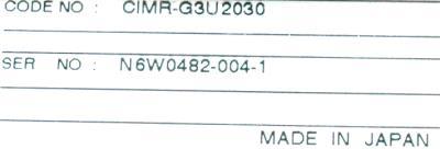Yaskawa CIMR-G3U2030 label image