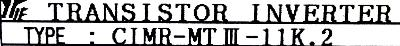 Yaskawa CIMR-MTIII-11K.2 label image