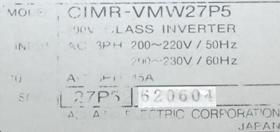 Yaskawa CIMR-VMW27P5 label image