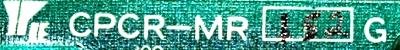 Yaskawa CPCR-MR152G label image