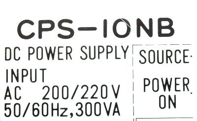 Yaskawa CPS-10NB label image