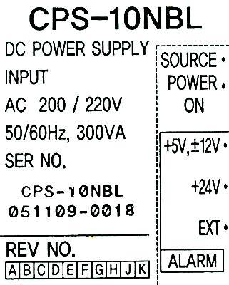 Yaskawa CPS-10NBL label image