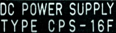 Yaskawa CPS-16F label image