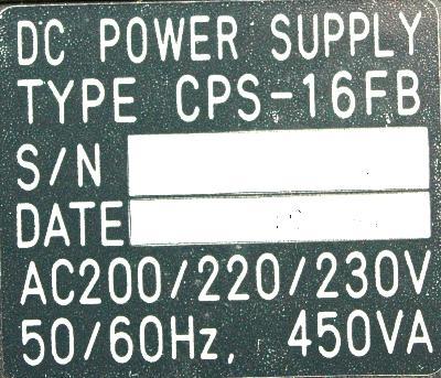 Yaskawa CPS-16FB label image