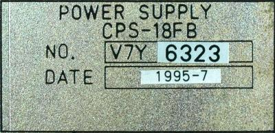 Yaskawa CPS-18FB label image