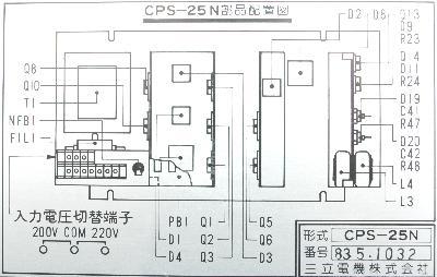 Yaskawa CPS-25N label image