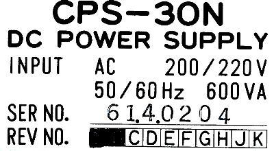 Yaskawa CPS-30N label image