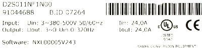 KoneCranes D2S011NF1N00 label image