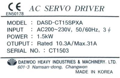 Daewoo DASD-CT15SPXB label image