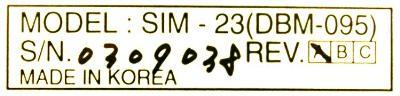 Yaskawa DBM-095 label image