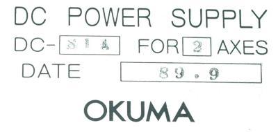 Okuma DC-S1A-2 label image