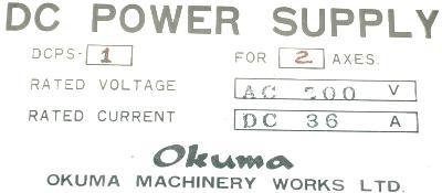 Okuma DCPS-1-2 label image