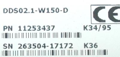INDRAMAT DDS02.1-W150-D label image