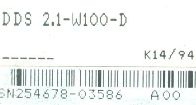 INDRAMAT DDS2.1-W100-D label image