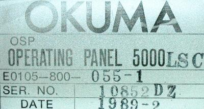 Okuma E0105-800-055-1 label image