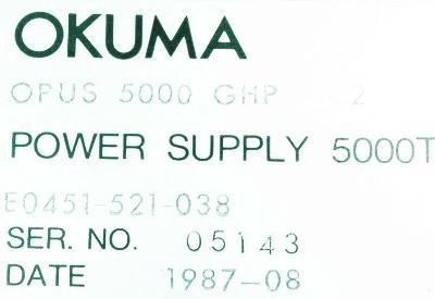 Okuma E0451-521-038 label image