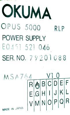 Okuma E0451-521-046 label image