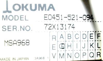Okuma E0451-521-094 label image