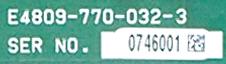 Okuma E4809-770-032-3 label image
