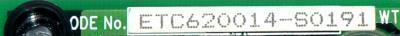 Yaskawa ETC620014-S0191 label image