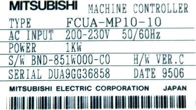 Mitsubishi FCUA-MP10-10 label image